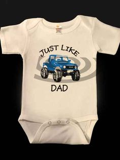 Suzuki Samurai Just Like Dad Baby Onesies several by Angelsbuttons Dad Baby, First Baby, Daddys Princess, Daddys Little, Cotton Shorts, Samurai, Onesies, Long Sleeve Shirts, Babies
