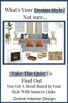 Struggling to figure out your design style? Take the quiz to find out. Interior Design Styles Quiz, Interior Design Services, Modern Interior Design, Design Thinking, Motion Design, Wireframe Mobile, Different Types Of Houses, Ios, Modern Farmhouse Interiors