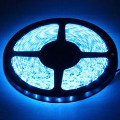[USD3.44] [EUR3.12] [GBP2.44] Epoxy Waterproof Blue LED 3528 SMD Rope Light, 60 LED/M, Length: 5M