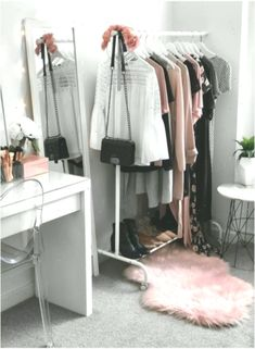 68 Ideas for bedroom closet makeover clothing racks - Best clothing rack ideas Ikea Malm, Hammock Swing Chair, Swinging Chair, Diy Plant Stand, Slipcovers For Chairs, Closet Bedroom, Wardrobe Rack, Cool Outfits, Closet Clothing