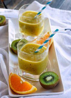 7 Homemade Sports Drink Recipes For Healthier Sipping: Homemade Electrolyte Orange Kiwi Citrus Slushy