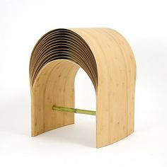 Min Chen designed this stool called Tabouret Hangzhou and it's mad out of bamboo and gloo