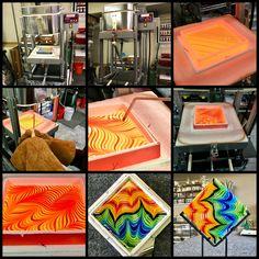 How We Comb Hot Glass – JLS Glass Studio, Gallery North