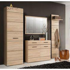 Ντουλάπα με διαστάσεις 55x34x197. Κατάλληλη για την είσοδο του σπιτιού σας. Από την Alphab2b.gr Tall Cabinet Storage, Dresser, New Homes, Room, Furniture, Home Decor, Ideas, Products, Stairway