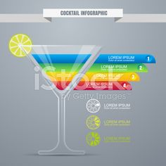 Cocktail concept infographic design template. royalty-free stock vector art