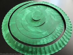 Jack and the Beanstalk Spiral Paper Plate Craft