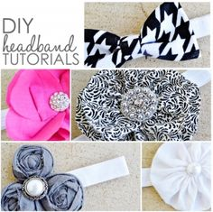 DIY headbands tutorial, love the bow tie for little girls!