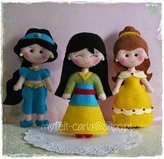 Resultado de imagem para moldes de princesas em feltro