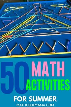 Want to keep math alive and fun over the summer? Try these 50+ Fun and Simple Summer Math Activities! #math #summermath #homeschool #mathteachingtips Kindergarten Math Activities, Kids Learning Activities, Math Resources, Homeschooling Resources, Love Math, Fun Math, Teaching Tips, Teaching Math, Free Lesson Plans