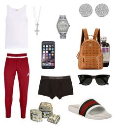 """""""FMOT @Its_Cartel"""" by charles-luciano ❤ liked on Polyvore featuring adidas, MCM, The White Briefs, Karen Kane, Rolex, Dolce&Gabbana, Roberto Coin, Ray-Ban, men's fashion and menswear"""