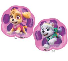 "Complete your Paw Patrol party décor with Skye & Everest balloons! + Package contains (1) 25"" Foil / Mylar Balloon, as pictured + Strings/Ribbon are not included + Shipped uninflated About Balloons +"