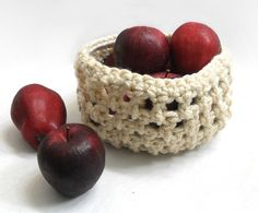 Crochet Fruit Basket #dteam $16.00