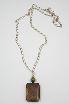 "Camila - Jasper and sterling silver, 23"" Necklace,Item #R58-1 