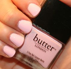 Butter London Teddy Girl - Essie Fiji/OPI Mod about you dupe - Swatch and Review http://heidispolish.com