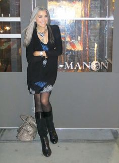 Manon having dinner at MANON in Meatpacking NYC.