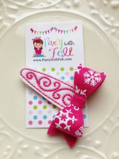 Snowflake Hair Snap Clip in 6 colors Designer by PartywithFelt, $5.00
