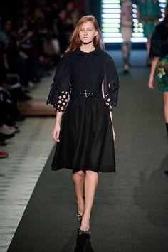 The new little black dress - Jean-Charles de Castelbajac Fall 2013 #runway #fashionweek
