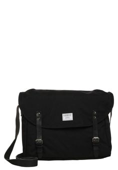 ERIK - Umhängetasche - black w. black leather   Zalando.at 🛒 24553a7555