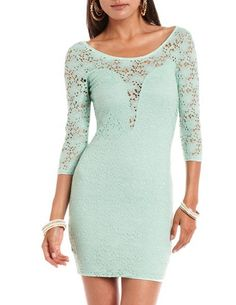 Crochet Lace Body-Con Dress: Charlotte Russe i shouldve gotten it