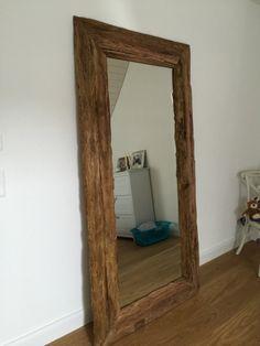 Spiegel Massivholz Teak, Wandspiegel Altholz, Maße 200 x 80 cm - Wohnaccessoires