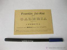 ENTRY OF 1 PESET OF FRONTON JAI ALAI OF MADRID.  YEAR 20. JAI-ALAI - Photo 1