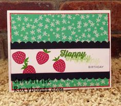 Stampers with Attitude- CTMH Taste Of Summer Happy Birthday card