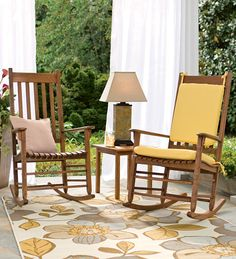 Porch Rocker, Slatted Rockers And Side Tables - Plow & Hearth