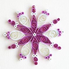 6 point magenta and white quilled snowflake | Flickr - Photo Sharing!