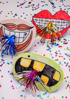 New Year's Party Horn Photo Props- Fun and easy DIY to make with the kids!