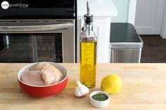 Lemon Garlic Dump Chicken