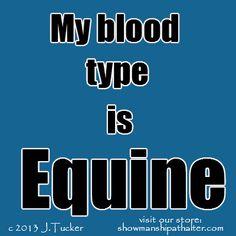 Meine Blutgruppe ist Pferd!