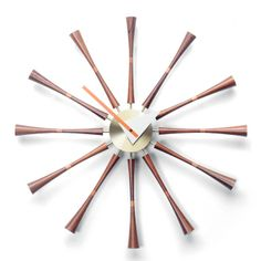 'spindle clock' by george nelson now sold by vitra
