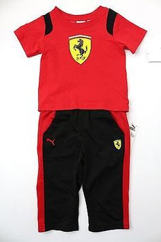 PUMA FERRARI Little Boy s T-Shirt and Tricot Set 542c83840