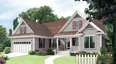 The Blakely, Plan 839 This modest home makes the most of its square footage by utilizing a very open floor plan and volume ce
