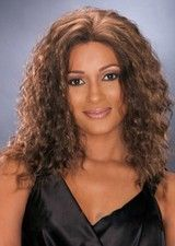 Gorgeous Curly Mid-length Lace Front Afro Wig