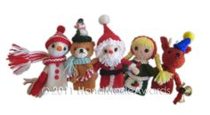 Christmas Finger PUPPETS Pdf Email Knit PATTERN by HandMadeAwards