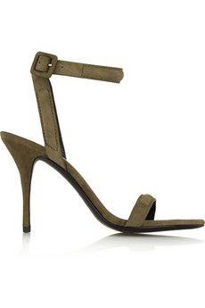 Alexander Wang Antonia suede sandals | NET-A-PORTER
