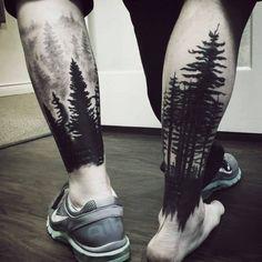 Tree,woods, Forrest tattoo.
