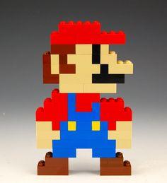 Lego Duplo Mario by BrickBum Lego Mario, Lego Super Mario, Lego Pokemon, Lego Design, Hama Beads Minecraft, Lego Minecraft, Perler Beads, Minecraft Skins, Minecraft Buildings
