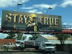 DJ Foster has his own billboard. Fans respect local talent staying home.