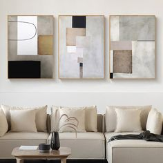 Vintage Abstract Geometric Squares Wall Art Fine Art Canvas Giclee Prints Contemporary Style Paintings For Modern Office Living Room Bedroom Home Decor Geometric Wall Art, Abstract Wall Art, Canvas Wall Art, Wall Art Prints, Canvas Paintings, Canvas Frame, Vintage Canvas, Vintage Wall Art, Vintage Walls
