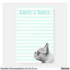 Striped Background, Aqua Color, Sweet Notes, Present Gift, Note Paper, Pet Gifts, Sticky Notes, French Bulldog, Superhero
