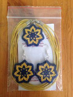 Nyaklánc fülbevalóval - Halsband med örhängen - Necklace and earrings