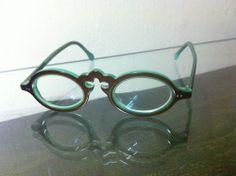 JEAN LAFONT Paris Turquoise Chocolate Acrylic EYEGLASS GLASSES FRAMES Sampan 710