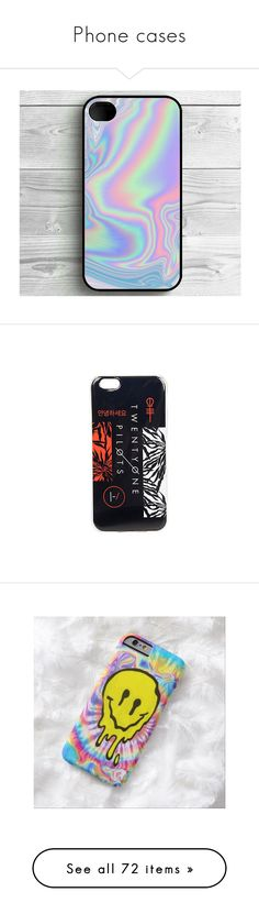 """Phone cases"" by fangirl-trash ❤ liked on Polyvore featuring accessories, tech accessories, phone, phone cases, electronics, twenty one pilots, cases, jewelry, multi and apple iphone cases"