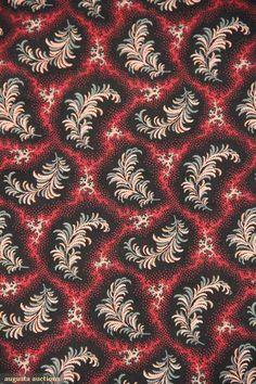 Augusta Auctions: Detail back of 1830's chintz bedcover