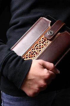 Ethos Custom Brands - Celtic Trilogy Tablet Cover Tech Accessories - Hand-crafted Leather Products