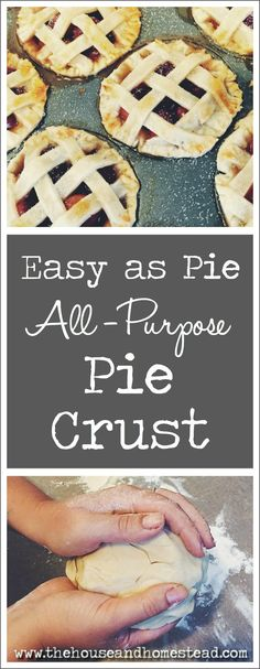 This pie crust is the perfect combination of buttery and crumbly and light. And it really is easy as pie to make!