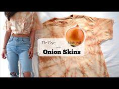 Natural Tie Dye using Onion Skins   DIY Orange T-shirt - YouTube
