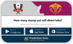 How many stump out will #MSDhoni take?  Predict at http://pgur.in/uqwa6x  #RPSvKXIP #ipl2016 #cricket